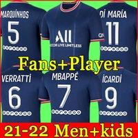 PSG Camiseta de fútbol 20 21 paris saint germain camisetas 2021 2022 MBAPPE NEYMAR JR ICARDI hombres + kit de niños maillot de foot 4th de la soccer jerseys chandal