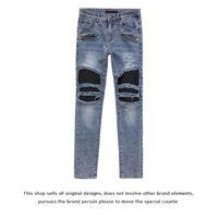 Fog Amir Fashion Brand Washing Water Blue Cow Used Locomotive Mx2 Pinky Punk Slim Fit High Street Jeans Men