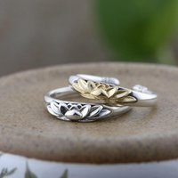Cluster Rings 100% Real 925 Sterling Silver Lotus Flower Open For Women Men Lovers Gifts Thai Fashion Jewelry