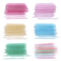 Nail Brushes 50% 100Pcs Bag Point Drill Stick Reusable Safe PS Oblique Head Faux Crystal For
