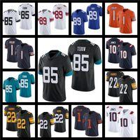 2021 Draft 85 Tim Tebow 10 Mac Jones Football Jerseys 1 Justin Fields 22 Najee Harris 17 Jaylen Waddle Jersey 89 Kadarius Toney Red Bianco nero