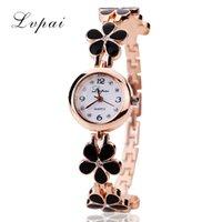 Обрасывание LVPAI Brand Роскошные Кристаллические Золотые Часы Женщины Мода Браслет Кварцевые Наручные Часы Горный Хруст