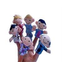 Family Finger Burpets Toys Carino Cartoon Panno Panno Pulvello Bambola Burattino per bambini Peluche Educativo Peluche Puntali Talking Puntelli 6pcs / Set M3658