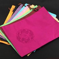 Storage Bags 30pcs Embroidery Dragon Satin Fabric Shoe Travel Drawstring Women Bra Pouches Chinese Gift Packaging Dust Covers