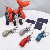 Saffiano Key chain Buckle lovers Car Keychain Handmade Leather Designers Keychains Men Women Bag Pendant Accessories