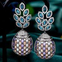 Dangle & Chandelier GODKI Maxi Big Pineapple Design Statement Earrings For Women Wedding Party Bohemia Pendientes Mujer Moda 20