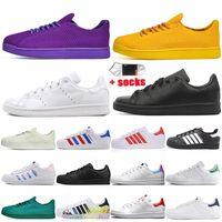 Adidas og stan smith süperstar erkek rahat ayakkabılar moda üçlü siyah beyaz yeşil platform süperstar erkek kadın eğitmenler spor ayakkabı