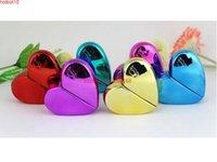 25ml 향수 병, 플라스틱 뚜껑이있는 다채로운 하트 모양의 유리 빈 스프레이 200pcs / lotgoods 포장