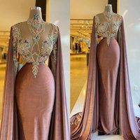 2021 Luxury Mermaid Evening Dresses Velvet Sexy Illusion Custom Made Crystals Sweep Train Prom Party Gown Formal Occasion Wear vestidos