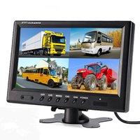 "Камеры заднего вида автомобиля Датчики парковки Texosa 9 ""TFT LCD Split Screen Scread Quad Monitor CCTV Security Security WeadRest 4 разъемы RCA 6 MO"