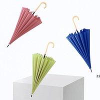 긴 스트레이트 핸들 반자동 우산 단색 비오는 맑은 강한 windproof 대형 우산 멀티 색상 HWB7450