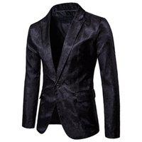Men's Suits & Blazers Mens Black Paisley Blazer Jacket Slim Fit Single Button Nightclub Men Wedding Prom Stage Singer Suit Hombre