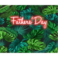 Party Decoration Happy Father's Day Tropical Monstera Palm Leaves Backdrop Love My Dad Decor Background Po Booth Studio Props