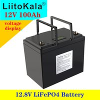 Home Backup Potenza LIITOKALA 12.8 V 100AH LifePo4 Batteria con Bluetooth BMS 12V Cell Pack per Go Carrello UPS Elettrodomestici Inverter