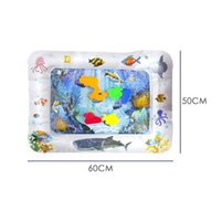 Bathing Tubs & Seats 2021 Summer Children's Games Rectangular Water Pads Inflatable Game Pad Baby Fun Activity 6.3