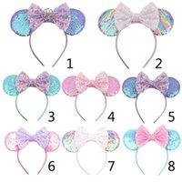 Acessórios de cabelo Headband de lantejoulas com arco glitter mouse hairband para crianças meninas linda festa desempenho tema fantasia