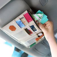 Aufbewahrungstaschen Auto Sonnenblende Beutel Bill Karte CD Telefon Halter Box Leder Sonnenbrille Clip Zipper Multifunktionszubehör