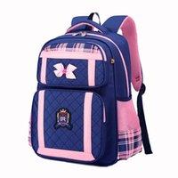 School Bags Girls Cute Bow Lightweight Bookbag Waterproof Oxford Cloth Pink Bag For Children Backpack Kids Orthopedics Backbag