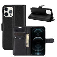 Litchi Flip Portefeuille Magnet Kickstand Pochette anti-chocs anti-chocs Poche PU avec porte-carte Couvercle de machine à sous pour iPhone 13 Pro Max 12 mini 11 xs xr x 8 7 6 6S Plus SE