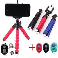 Mobile Phone Holder Flexible Octopus Tripod Bracket Camera selfie stand Monopod Support Photo Remote Control