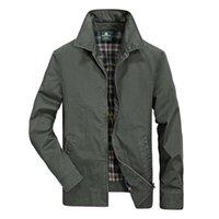 Мужские куртки Военная Куртка Мужчины Мужская Мужская пружина Сплошная Тонкий Slim Casaco Masculino Чистый хлопчатобумажный Управляет Плюс Размер M-4XL