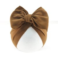 Caps & Hats 57EE Baby Big Bowknot India Hat Headwrap Solid Color Beanie Cute Bow Cotton Elastic Turban Headband For Born Infant