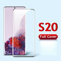 CASE Friendly Cell Phone Screen Protectors for Samsung S20 NOTE 10 S10 PLUS Ultra 9 S8 S9 Full Coverage NO HOLE Fingerprint Unlock Tempered Glass