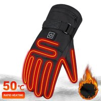 Ski Gloves Winter For Men Snowboard Women Touchscreen USB Heated Camping Water-resistant Hiking Skiing Moto Motorcycle