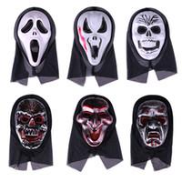 Halloween Ghost Face Mask Devil Skeleton Monolithic Horror Scream Masks Adult Child Festival Party Decor Supplies
