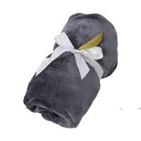Automne et hiver Couverture de laine Couleur pure Flanelle Simple Office Nap Climatisation Couvertures HFWE7546
