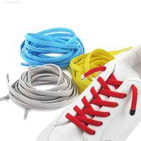 5 أزواج مطاطية كسول أربطة الأحذية البوليستر أحذية للجنسين أحذية رياضية عارضة flat shoelace 18 ألوان لا التعادل الأحذية الدانتيل