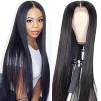 Lace Wigs YEZ 4x4 Closure Wig Brazilian Straight Human Hair 150 Density 30 Inch Front Y45105