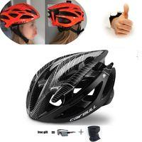 Casco da ciclismo Black Black Ultralight Bicycle Helmet MTB Road Bike Casco Integrally-stampo Bycicle Guida Cap Secure Casco Ciclismo