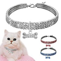 Bling Cat Collar For Small Dogs Necklace Rhinestone Diamante Pet Puppy Kitten Supplies Dog Accessories Collars & Leads