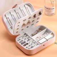 PU Leather Jewelry Box Travel Bracelet Earring Storage Case Simple Portable BWF11342