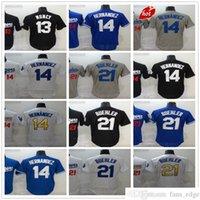 스티치 2021 뉴스 야구 유니폼 Kershaw 21 워커 Buehler 14 Enrique Hernandez 13 Max Muncy Jersey 최고 품질의 검은 흰색 파란색 남성 사이즈 S-XXXL