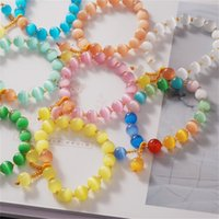 Etnische kristallen armband vrouwelijke strengen opaal kralen reiscabine handtrings kleine cadeau-accessoires 3665 Q2
