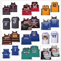 NCAA-Top-Qualitäts-Film-Basketball-Trikots 55 Dikembe Mutombo-Blazer 0 Bronny 10 Dennis Rodman Drake 6 Ovo Jersey Msg NYC mit Eule Jerseys S-4XL