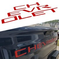 ABS Inserts Sticker Fit For 2019-2021 Year Chevrolet Silverado 3D Decals Letters badge Rear Trunk Tailgate Emblem