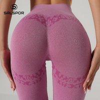 Women's Leggings SALAPOR Athletic Seamless For Women Energy Push Up Woman Elastic High Waist Fashion Printed