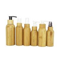 Garrafas de armazenamento frascos 30ml 50ml shell de bambu vazio recarregável óleo de conta-gotas de óleo com pipetas jars cosméticos 50 pc