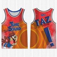 Espaço Jam James Jersey Filme 23 Michael 1 Bugs Bunny! Taz 13 Tweety 22 Bill Murray 10 Lola 2 D. Duck Jerseys 99 66