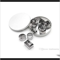 Pastry Bakeware Kitchen, Dining Bar Home & Gardenstainless Steel Cake And Cookie Cutter Diy 8 Kinds Of The Geometry Shaped Mold 24 Pcs Set B