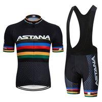 Летние новые Pro Team Astana Men Mountain Sports Велосипедная одежда Велоспорт Одежда для велосипеда Джерси набор велосипедных велосипедных велосипедов