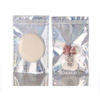 Paquete de bolsas de plástico 20x30cm Láser de aluminio Lámina con cremallera Bloqueo de envases Bolsas de embalaje Frente claro Mylar Foil DrySaltery Scented Tea Packing Bolso 513 V2