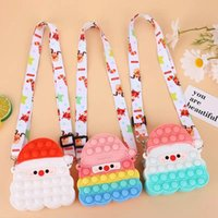 Finger toy sensual Santa Claus Christmas fashion childrens cosmetics small coin bag one shoulder girl gift adult decompression party surprise wholesale spot