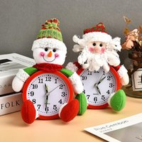 Noel Baba Kardan Adam Masa Saati Marka Noel Alarm Toptan Hediye Arifesi Bebek Noel Dekor Yaratıcı Diğer Saatler Aksesuarları