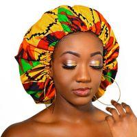 Beanie Skull Caps Extra Large Satin Lined Bonnet Women Big Size Beauty Print Silk Sleep Night Cap Head Cover Hat Wholesale