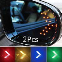 Luci interiorexterne 2 * Car Styling LED Direzione del segnale di direzione 12V 14 SMD Vista posteriore Specchio freccia Pannelli Pannelli Indicatore Auto Punte decorative