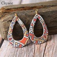 Ckysee Boho Hollow Teardrop Earrings For Women 10 Colors Vintage Water Drop Dangle Statement Earring Christmas Jewelry Gifts & Chandelier